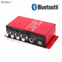 2017 New Nobsound Mini Stereo Amplifier Bluetooth Power Amp MIC USB TF FM MP3 KTV Digital Player