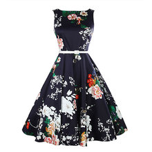 Summer Women Party Dress Elegant Vintage vestidos elegantes a la rodilla A line Dress promotion printed