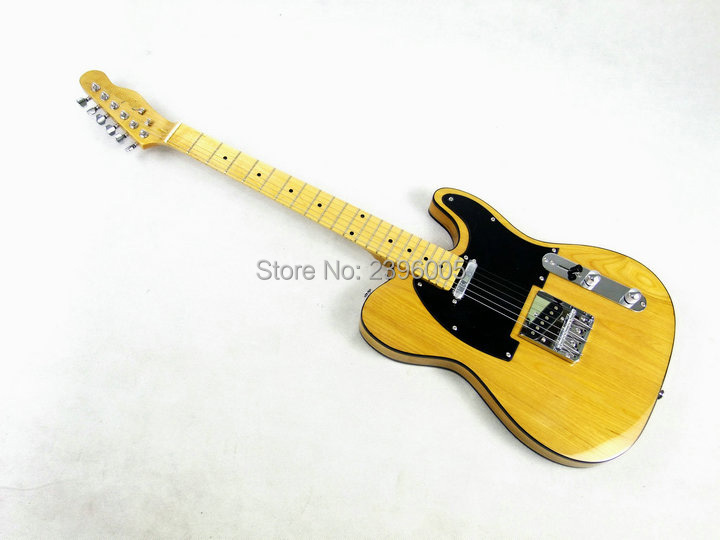 Chinese electric guitar Elm body Fen nature color tele guitar maple neck high quality TL guitar Shipping Free Factory Direct high quality hollow maple body nashville electric guitar with gold bigsby free shipping