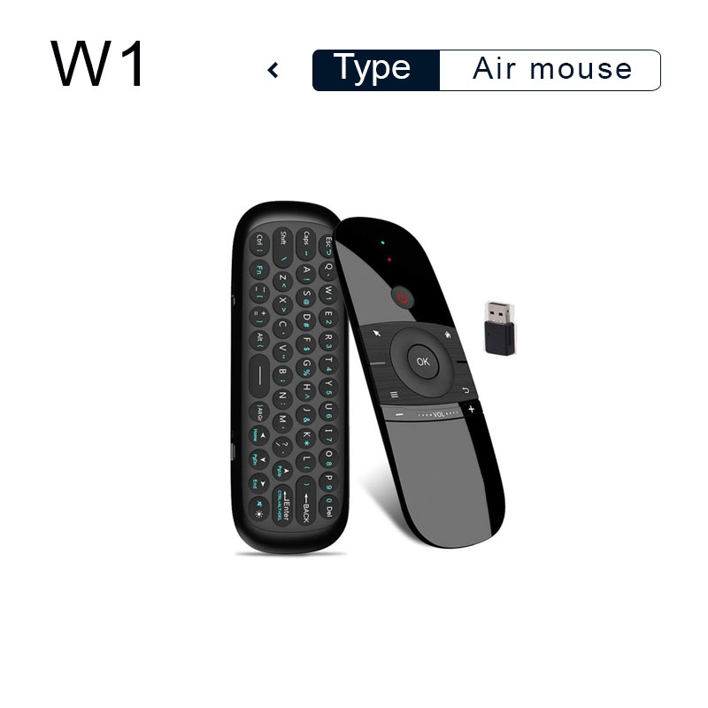 Color: English Calvas 1Set New Russian English C120 Fly Air Mouse 2.4G Mini Wireless Keyboard Rechargeable Remote Control for PC Android TV Box