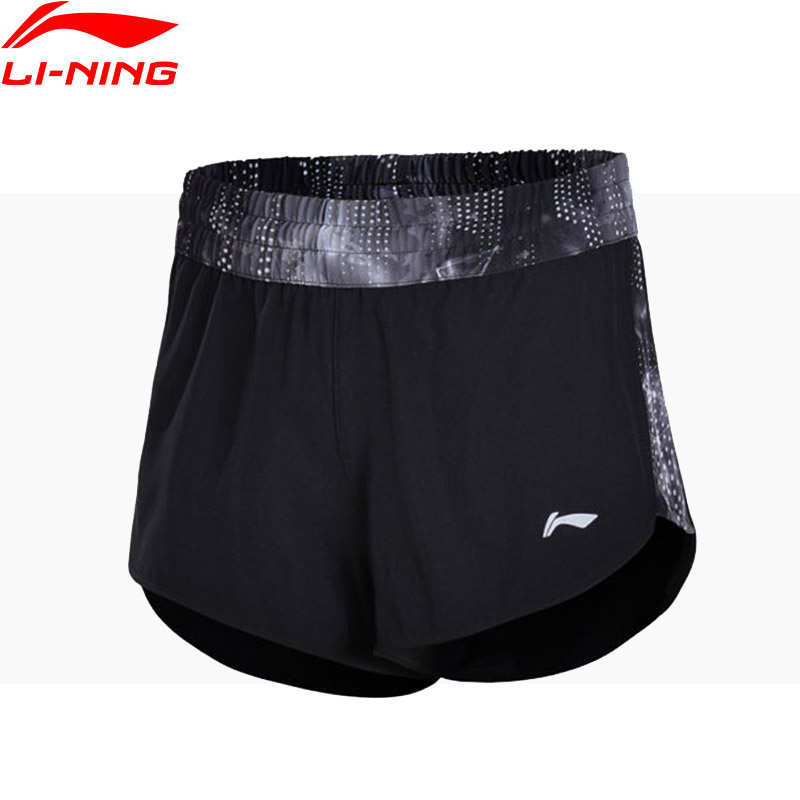 Li-Ning Women Running Shorts Regular Fit 92% Polyester 8% Spandex Comfort LiNing Sports Shorts AKSN006 WKD565 ...