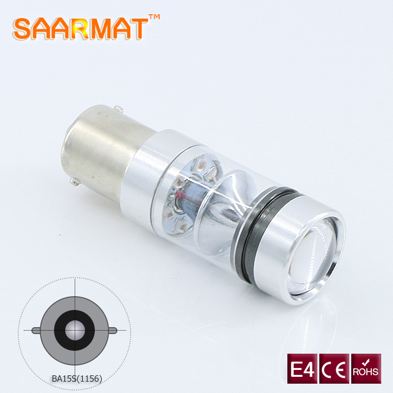 1x LED 1156 P21W BA15S bulb Canbus No Error with Sharp chips Car Backup Reverse Light lamp For CITROEN C2 C3 C4 C5 C8 White @12V 2x 1156 ba15s p21w w cree chips q5 5w white led car reverse bulb for alfa romeo 155 156 164