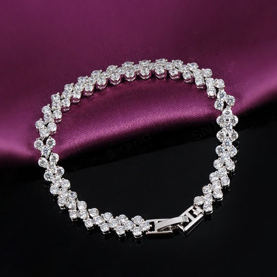 18CM Crystal Bracelets for Women Bracelet Femme Bijoux Pulseras Mujer Pulseira Masculina Bracciali Donna Armbanden Jewelry BRW32