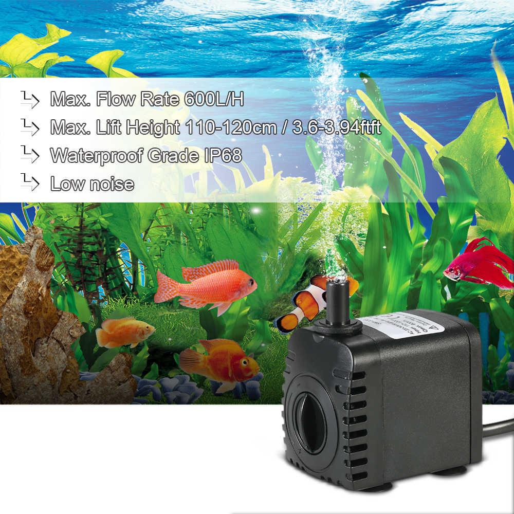 600L/H 8 واط مضخة مياه غاطسة مضخة ل نافورة حوض السمك بركة مضخة خزان الأسماك حديقة بركة مضخات نوافير صغيرة بوم الاتحاد الأوروبي/الولايات المتحدة/المملكة المتحدة