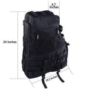 Image 4 - Chuang Qian 2X Roll Bar Tool Storage Bag Multi Pockets Saddlebag Organizers Cargo for Jeep Wrangler JK TJ LJ & Unlimited 4 Door