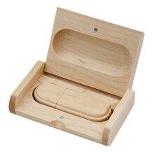 Wooden USB 2.0 Flash Drive Pen U Disk 64GB Wood color