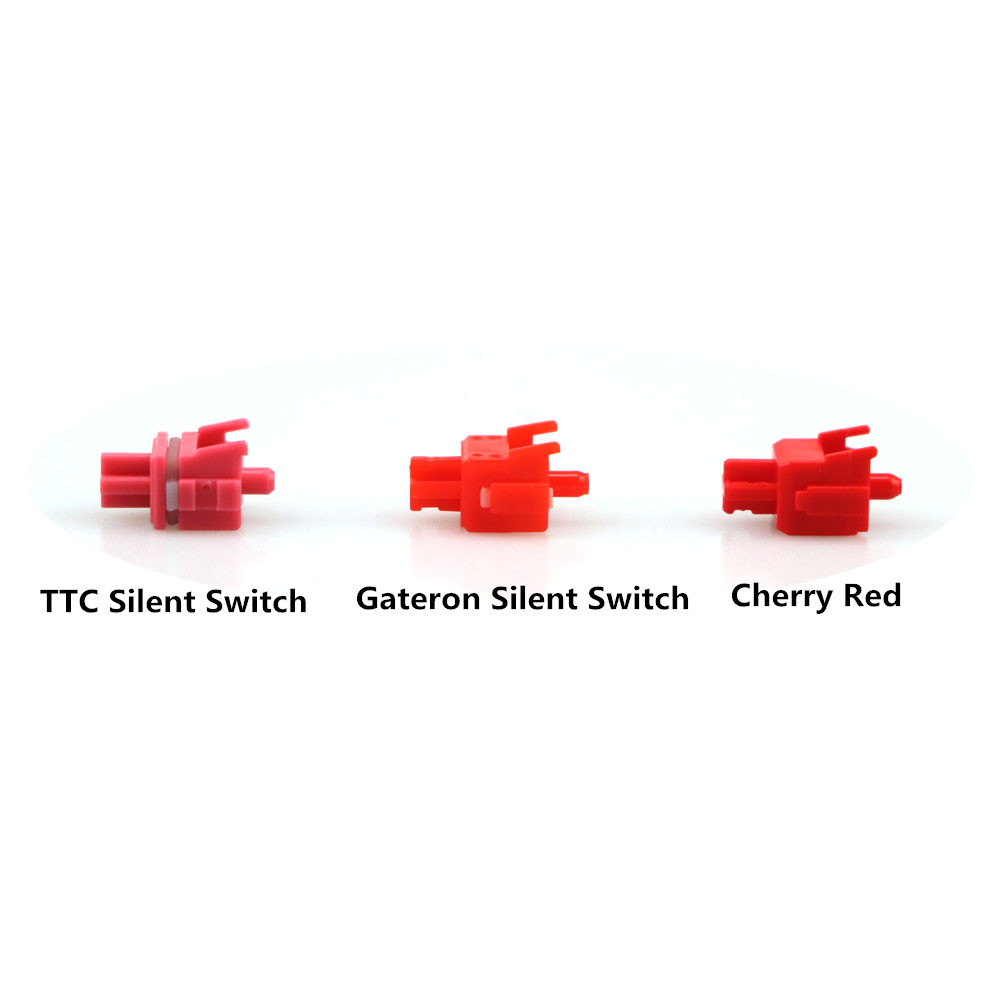 TTC silent switch 3pin RGB Pink Switches for custom mechnical keyboard xd64 xd60 eepw84 gh60