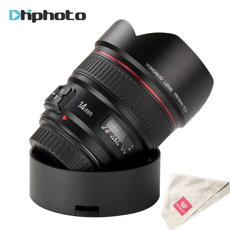 Yongnuo Objektiv YN14mm F2.8 AF MF Autofokus Ultra Weitwinkel Prime objektiv 14mm für Canon 5D Mark III IV 700D 80D DSLR kamera