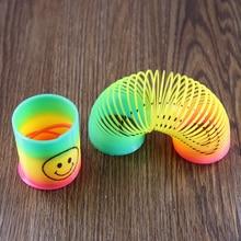 저렴한 12 Slinky 스마일 미니 스프링 Pinata 파티 가방 필러 웨딩 키즈 장난감 상 할로윈 크리스마스 휴일 선물