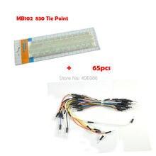 MB-102 MB102 830 Связующих Точек Solderless ПЕЧАТНОЙ ПЛАТЫ Макет + 65 ШТ. Соединительный кабель провода