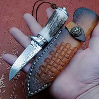 Mini Pure Handmade Fixed Blade Damascus Knife Survival Tactical Hunting Camping Knives EDC Hand Tools Kitchen Supplies