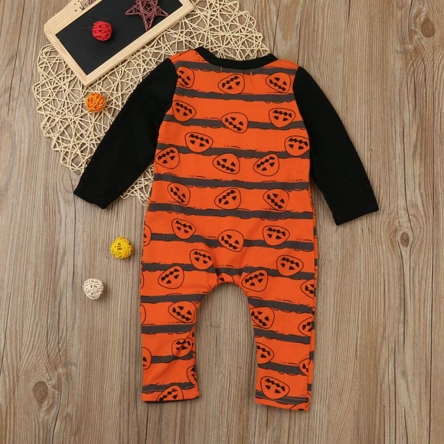 2017fashion for 3-18month year Orange Newborn Toddler Baby Boys Girls Halloween Pumpkin Romper Jumpsuit Outfit Clothes gift p35