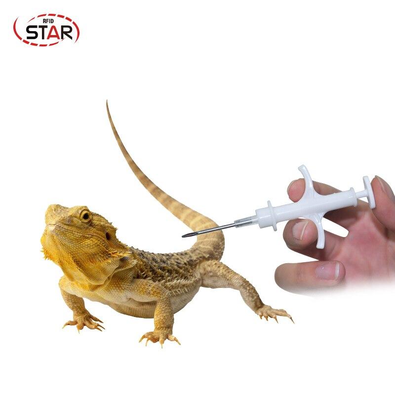 Pet Microchip Syringe EM4305 1.25*7mm FDX-B Animal Microchip 134.2khz Dog Fish Cat Tube Glass Chip Syringe Lf Injector (80pcs)