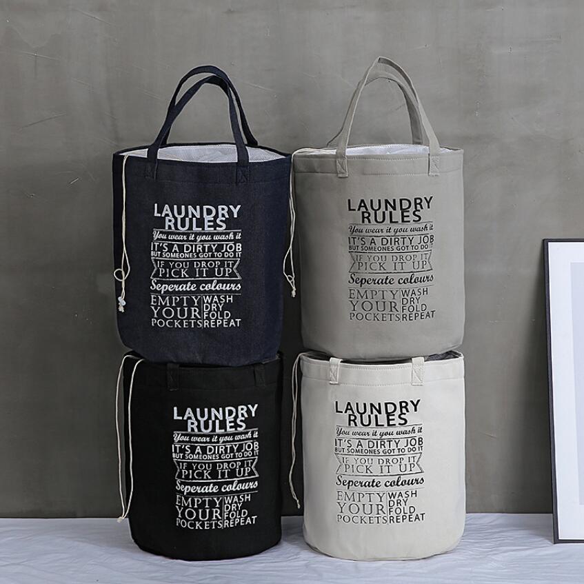 New Alphabet Waterproof Laundry Hamper Folding Clothes Storage