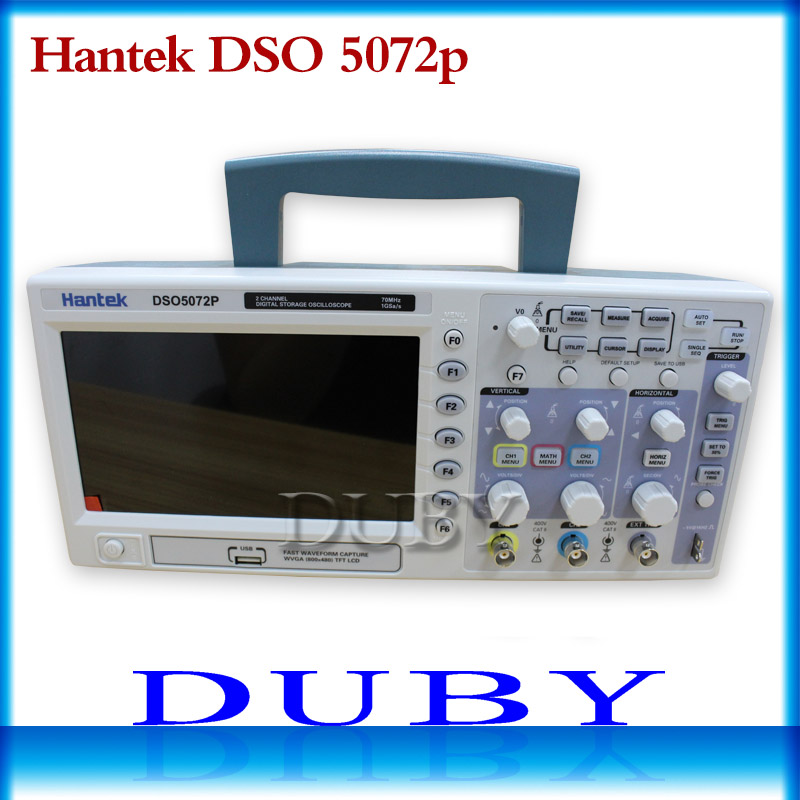 Hantek DSO5072P Digital Storage Oscilloscope 70MHz 2Channels 1GSa/s d Length 24K USB hantek dso5072p digital storage oscilloscope 70mhz 2 channels 1gsa s record length 40k usb 2ch