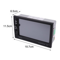 LESHP 7020G Car Bluetooth Audio Stereo MP5 Player With Rearview Camera 7 Inch Touch Screen GPS