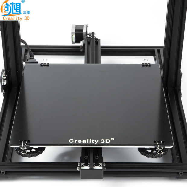 Newest Creality 3D Printer Black Carbon Silicon Crystal Build Hotbed Platform 310*310 MM Glass For C