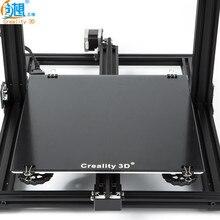 Yeni Creality 3D Yazıcı Siyah Karbon Silikon Kristal Inşa Yatağı Platformu 310*310 MM Cam Için Creality 3D CR-10 /10 s