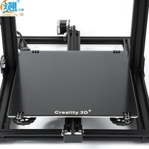 Image 1 - Yeni Creality 3D yazıcı siyah karbon silikon kristal yapı Hotbed platformu 310*310 MM cam Creality 3D CR 10/10S