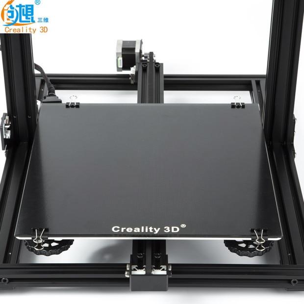 Yeni Creality 3D yazıcı siyah karbon silikon kristal yapı Hotbed platformu 310*310 MM cam Creality 3D CR 10/10S