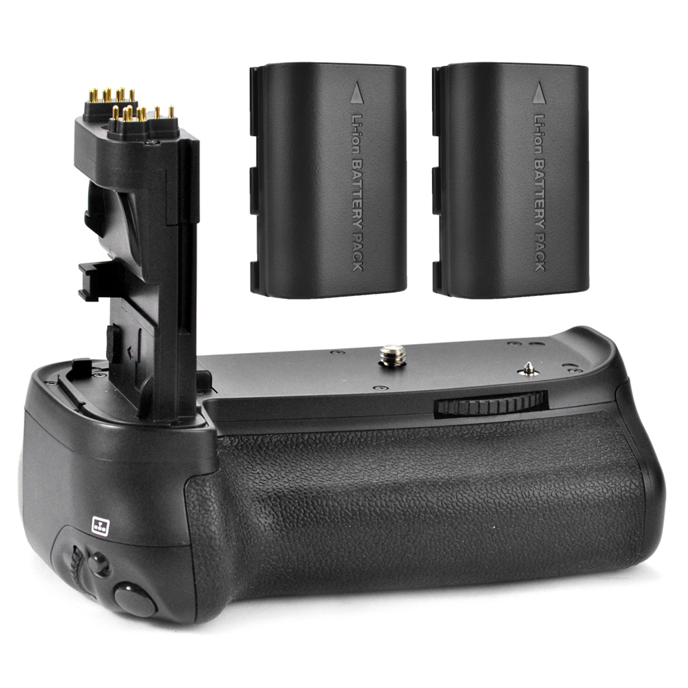 Meike Battery Grip Holder Handy Pack for Canon EOS 70D 80D BG-E14 DSLR + 2x Rechargeable Batteries LP-E6 P0009439 mcoplus bg 7d vertical battery grip with 2pcs lp e6 batteries for canon eos 7d camera as bg e7 meike mk 7d