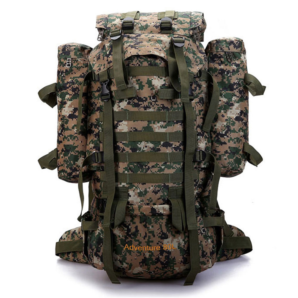 80L Camouflage backpack hiking campingbackpacks large sport bags unisex Camouflage traveling backpacks for men and women bags jasmine traveling unisex graffiti backpacks 3d printing bags drawstring backpack sep28