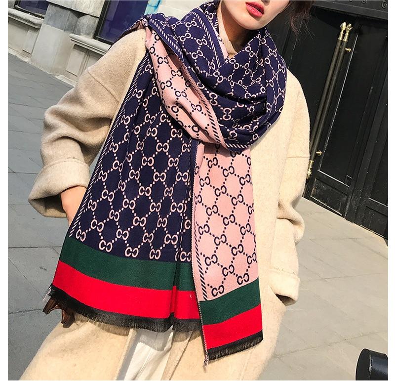 Winter   Scarf   Women Brand Design Fashion Print   Scarves   Soft Thick Warm Shawls   Wraps   200*70cm