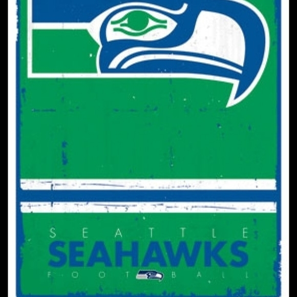 Seattle Seahawks – Retro Logo 15 Laminated & Framed Poster Print (24 x 36)