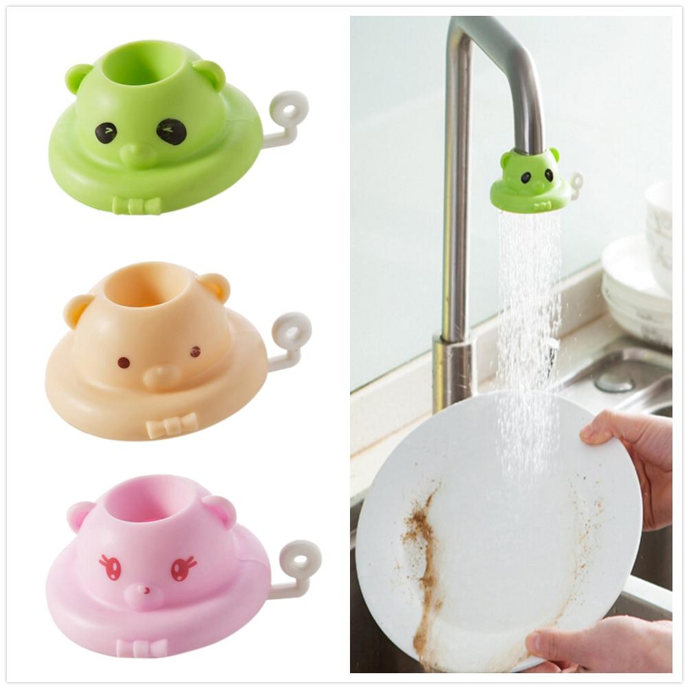 1PC Water Saving Device Splash Shower Bathroom Faucet Anti T Cartoon Kitchen Tap Shower Head Nozzle Faucet