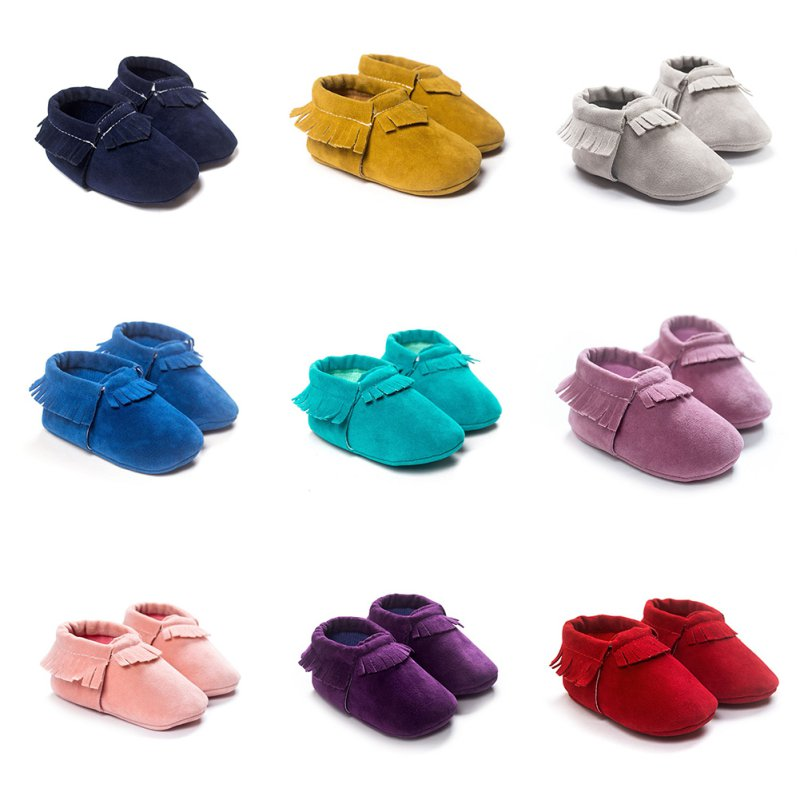 Moccasins Shoes Fringe First-Walkers Soft-Soled Non-Slip Newborn Baby-Boys-Girls Crib