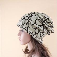 New arrival 2 Use Cap Knitted Scarf & Winter Hats for Women Letter Beanies Women Hip-hot Skullies girls Gorros women Beanies