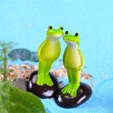 Милые животные лягушка Мини-Фея для дома сад гномы фигурки каваи миниатюры/Террариум кукла Декор