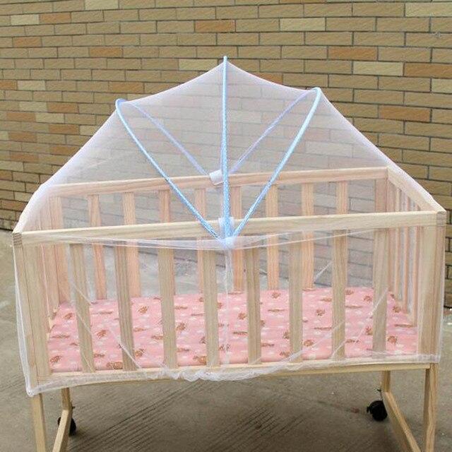 kinderbett tragbare moskitonetze wei vorhnge betthimmel krippe falten rund ciel de lit moustiquaire para cama babys - Betthimmel Vorhnge