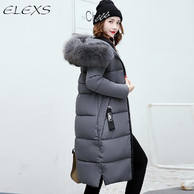 elexs 2018 femmes d 39 hiver manteau veste chaud femme parkas. Black Bedroom Furniture Sets. Home Design Ideas