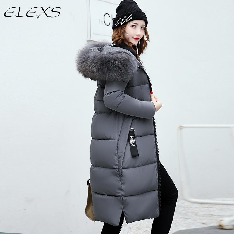 elexs 2018 women winter coat jacket warm woman parkas. Black Bedroom Furniture Sets. Home Design Ideas