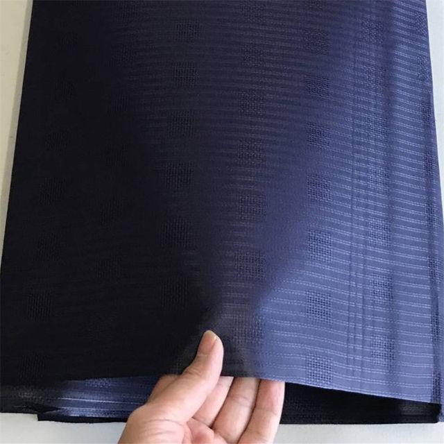 Colore puro Africano Atiku Tessuto Popolare Nigeriano Cotone atiku fabic per Gli Uomini di Stoffa dell'indumento in 5 metri