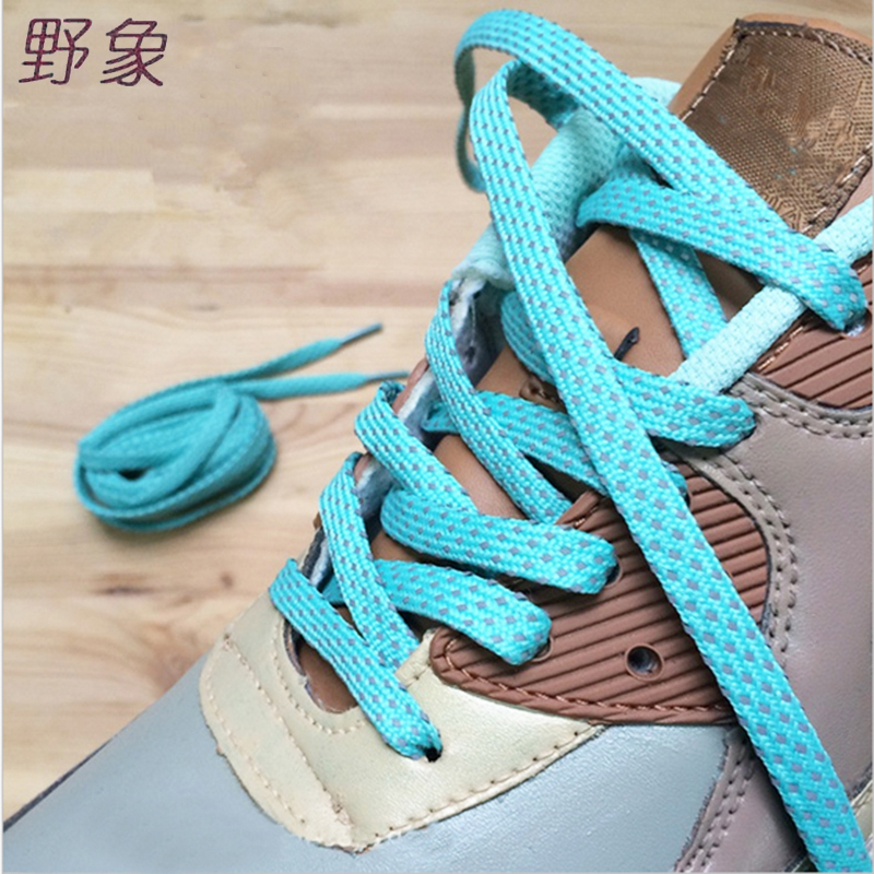 new style polka dot reflective patchwork shoelaces design for evening runner walk at night flat shoe lace women men black fashionable embroidered polka dot embellished thin neck tie for men
