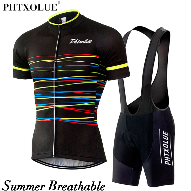 Цена за Phtxolue велоспорт устанавливает велоспорт одежда велосипед одежда/дышащий quick dry мужчины велосипедов одежда с коротким рукавом велоспорт трикотажные устанавливает