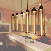 Pendant Light Vintage Industrial Estilo Único flauta Cabeça Luzes Restaurante Sala de Jantar Lâmpadas Loft Coffee Bar Iluminação Da Cozinha