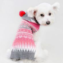 Pet Clothes Fashion Keep Warm Dog Clothing Small Dog Knit Sweater With Hooded Christmas Costume For Puppy New