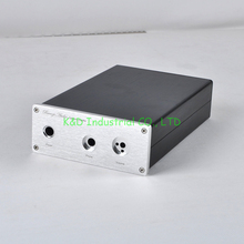 1pc Aluminum headphone amplifier Enclosure Chassis AMP CD DAC Case Box AUDIO DIY Socket bz2412b all aluminum power amplifier chassis 1969 class a amplifier housing audio amp enclosure diy box