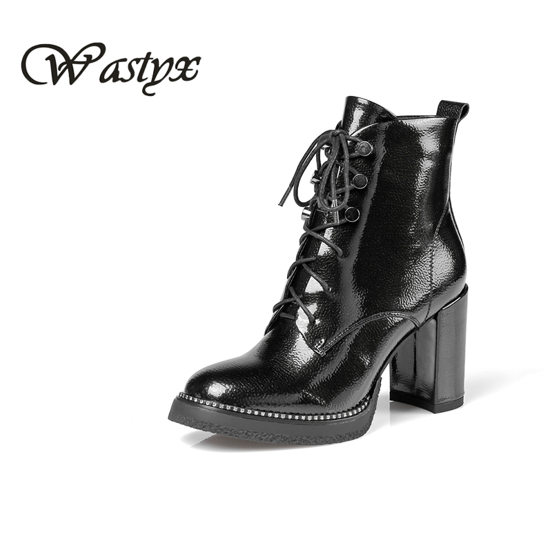 2017 high quality boots women casual lace up shoes woman womens ladies high heels ankle boots spring autumn fashion footwear memunia cow leather boots woman top quality ankle boots high heels shoes platform womens boots spring autumn black lace up