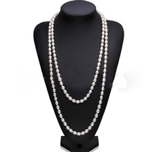 YKNRBPH Womens 2019 Sale Hot Long Pearl Sweater Necklace Rice Freshwater Fine Jewelry Party Free Shipping