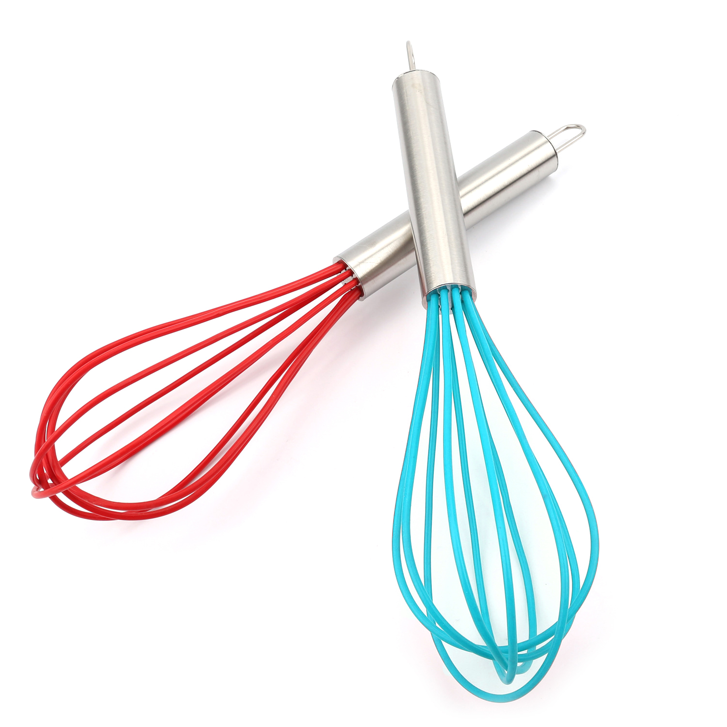 Food Grade Silicone Whisk Mixer Durable Egg Beater <font><b>Kitchen</b></font> Cooking Egg Beaters <font><b>Kitchen</b></font> <font><b>Tools</b></font> Hand Egg Mixer Cooking Foamer 25cm image