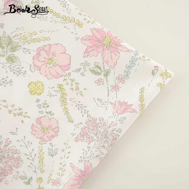 Booksew New Arrival Home Textile DIY Patchwork Bedding Clothing Baby Quilting Tecido Printed Flower Cotton Twill Fabric