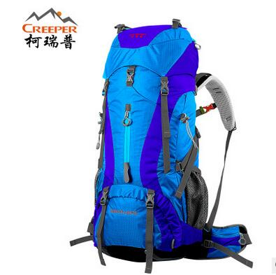ФОТО Brand CREEPER 65L mountain bag waterproof Professional Mountaineering Backpack mountain bag 60+5L Rucksacks Climing Camping Bag