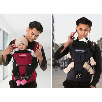 Ibelibaby Baby Carrier Backpack Portable Hip Seat Baby Sling Wrap Cotton Infant Newborn Baby Carrying Belt for Mom Dad