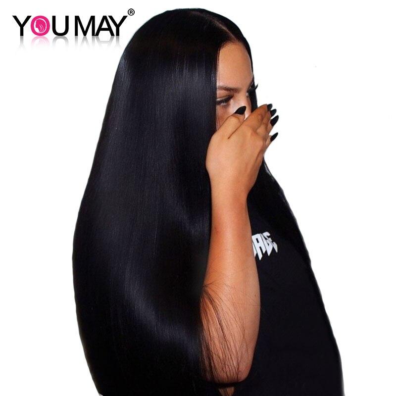 13x4 Dentelle Avant de Cheveux Humains Perruques Pour Les Femmes Naturel Noir 250% Densité Droite Avant de Lacet Perruques Brésilien Remy cheveux, Vous Pouvez