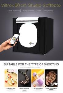 Image 2 - CY 60*60 cm LED Fotoğraf stüdyo ışığı çadır Masa Üstü Çekim SoftBox lightbox + Taşınabilir Çanta + Dimmer anahtarı AC adaptörü Takı Oyuncaklar