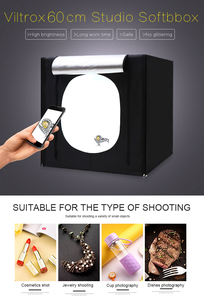 Image 2 - CY 60*60cm LED Photo Studio light tent Tabletop Shooting SoftBox lightbox+Portable Bag+Dimmer switch AC adapter for Jewelry Toys